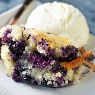 Texas-Style Blueberry Cobbler. A sweet and buttery blueberry cobbler that is famous in Texas. www.modernhoney.com