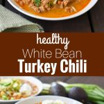 White Bean Turkey Chili is a healthy, nutritious soup made with lean protein, vegetables, and broth. Flavorful and delicious chili made in less than 30 minutes. www.modernhoney.com