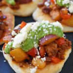 Chorizo Potato Puffy Tacos by Melissa Stadler of the 46th Pillsbury Bake-Off Contest. Chorizo Potato Puffy Tacos topped with a homemade avocado tomatillo salsa and cotija cheese. www.modernhoney.com
