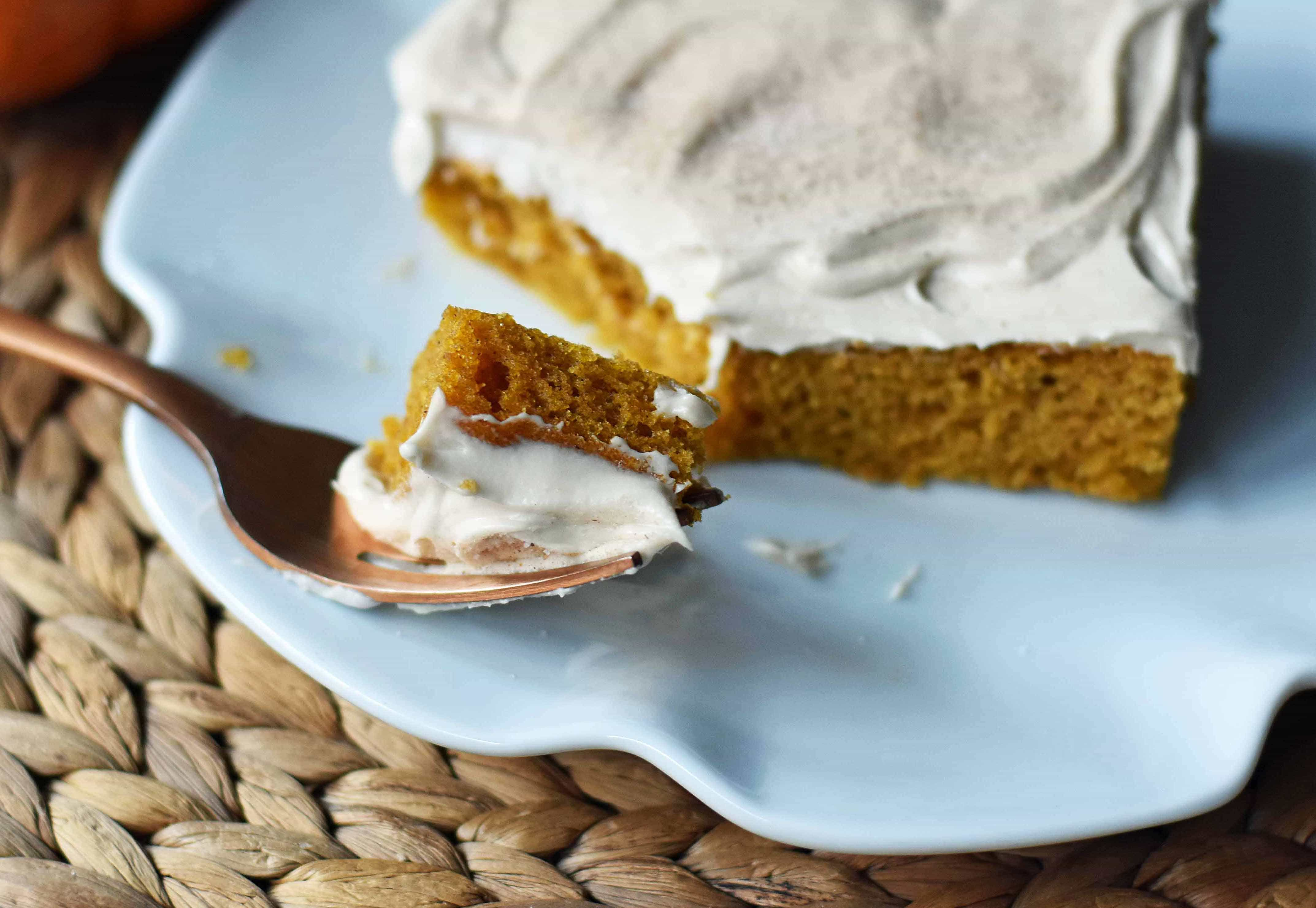 Pumpkin Sheet Cake 2 crop