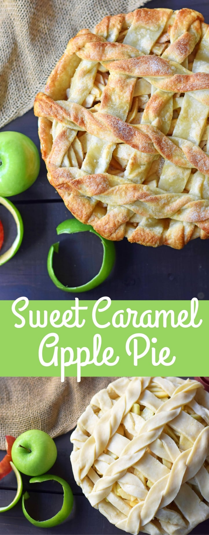 Caramel Apple Pie is a made with sweet and crisp apples sauteed in brown sugar and drizzled with homemade caramel sauce, all in a buttery flaky pie crust. The BEST Apple Pie Recipe drizzled with salted caramel sauce. www.modernhoney.com