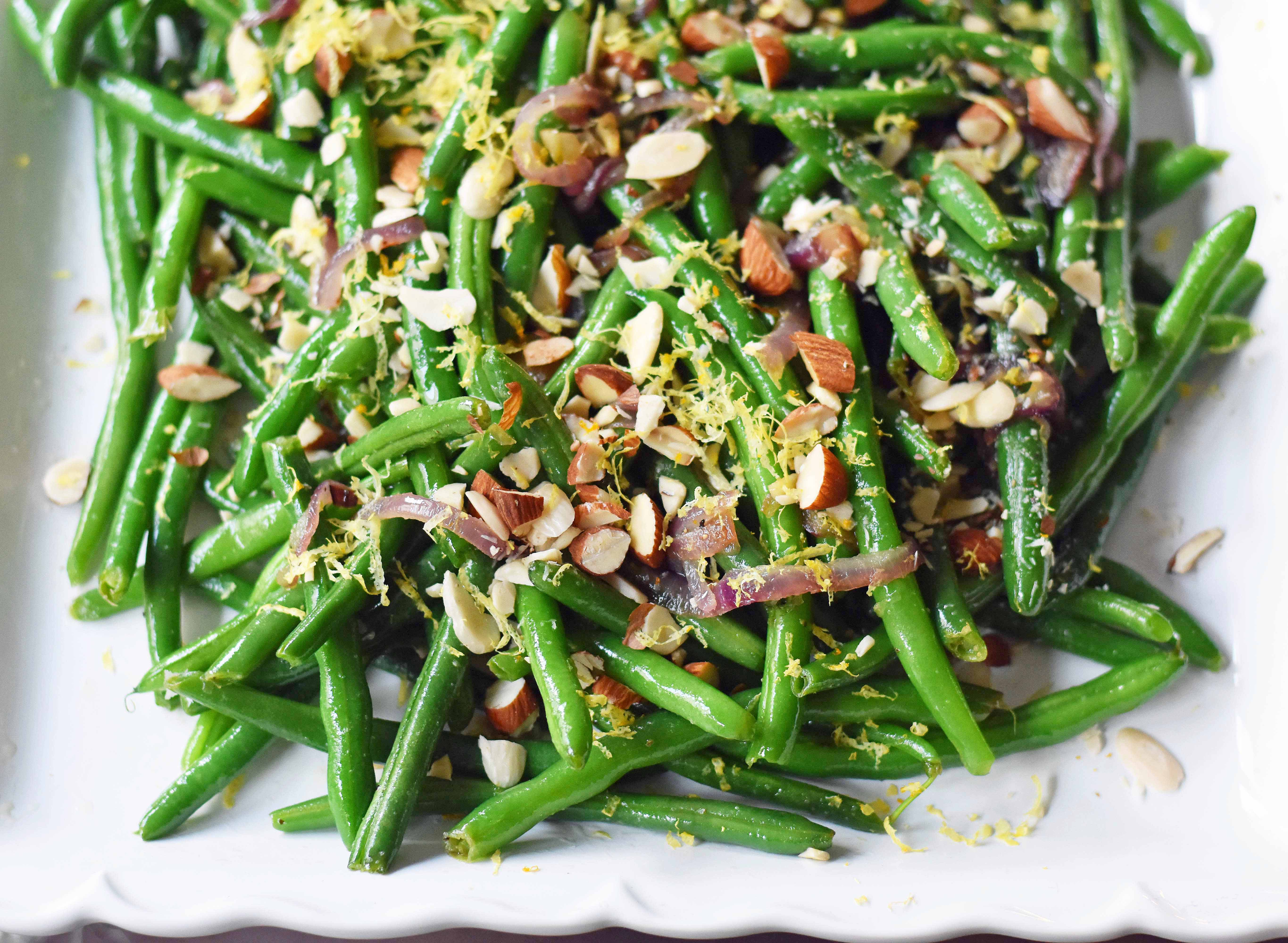 Green Beans with Almonds and Caramelized Onions 8