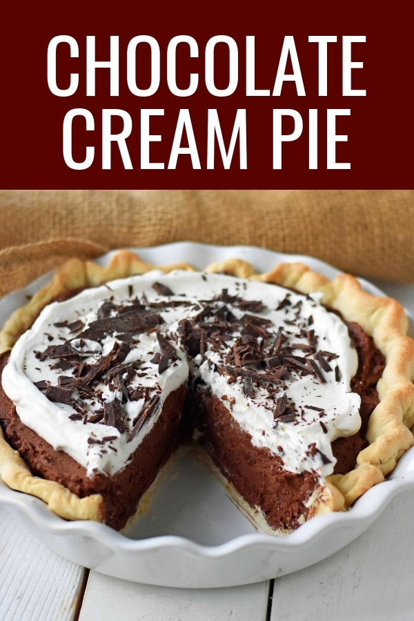 Chocolate Cream Pie. A homemade rich chocolate silk pie with a homemade chocolate custard. The best chocolate cream pie. www.modernhoney.com #chocolatecreampie #chocolatepie #pie #pierecipes #chocolate