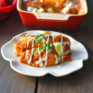 Red Chile Chicken Enchiladas
