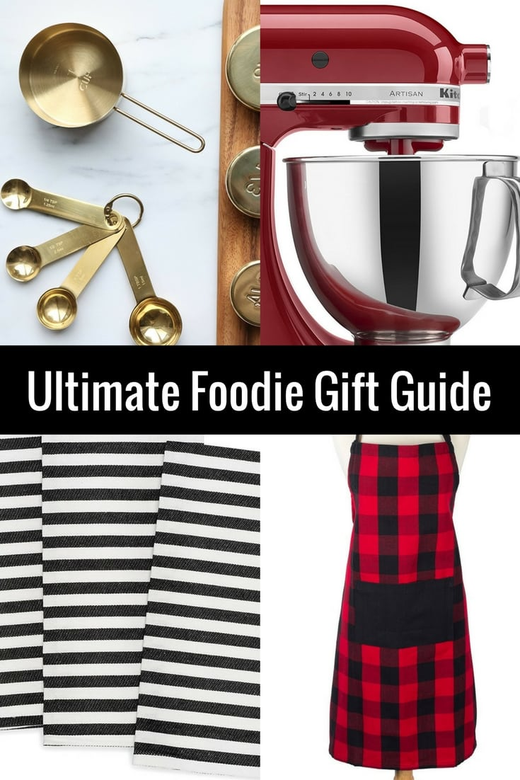 The Ultimate Foodie Gift Guide. Gift ideas for foodies. Holiday gift guide for people who love to cook. The best kitchen and baking tools. www.modernhoney.com