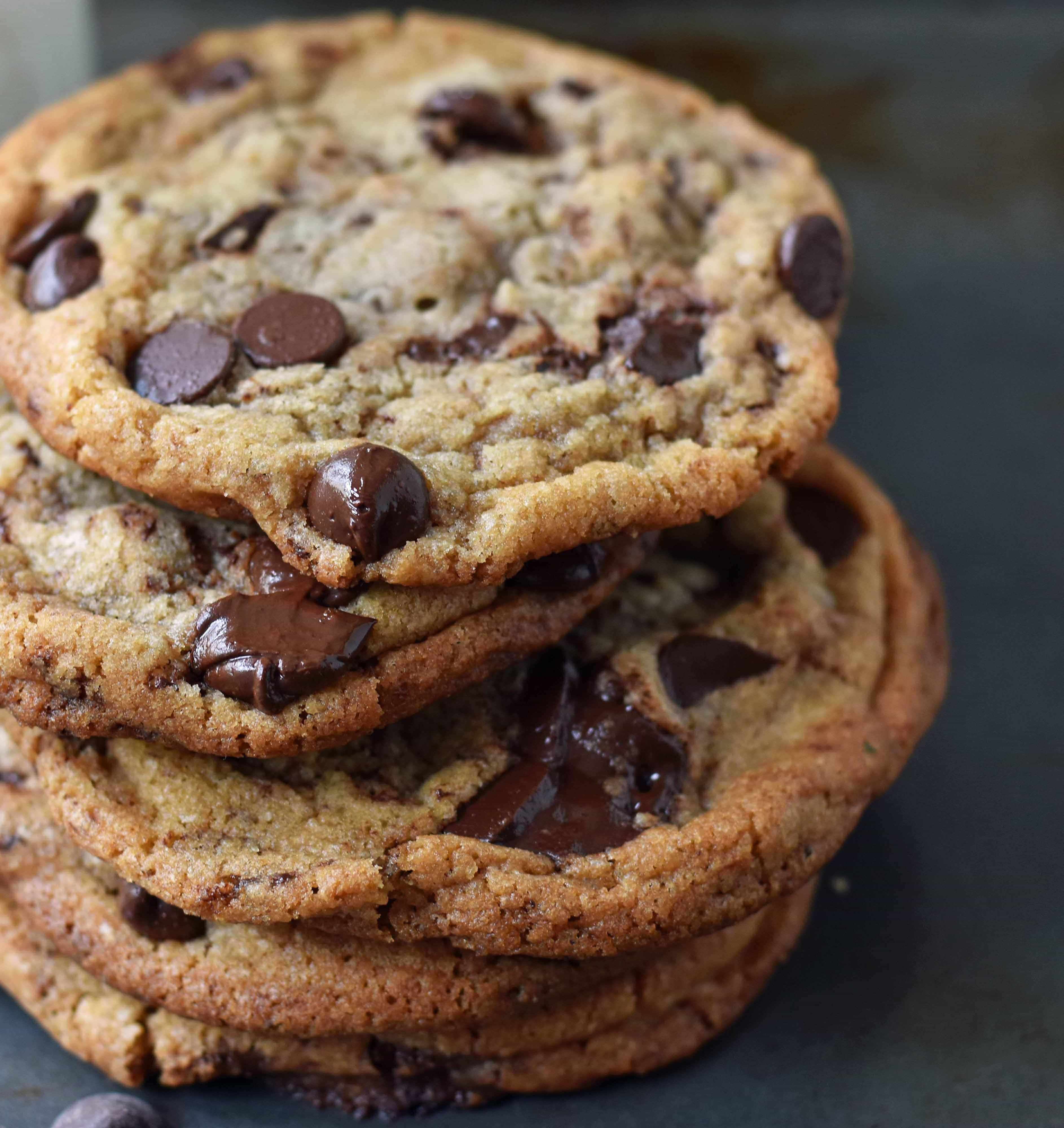 Thin and Crispy Chocolate Chip Cookies | Modern Honey