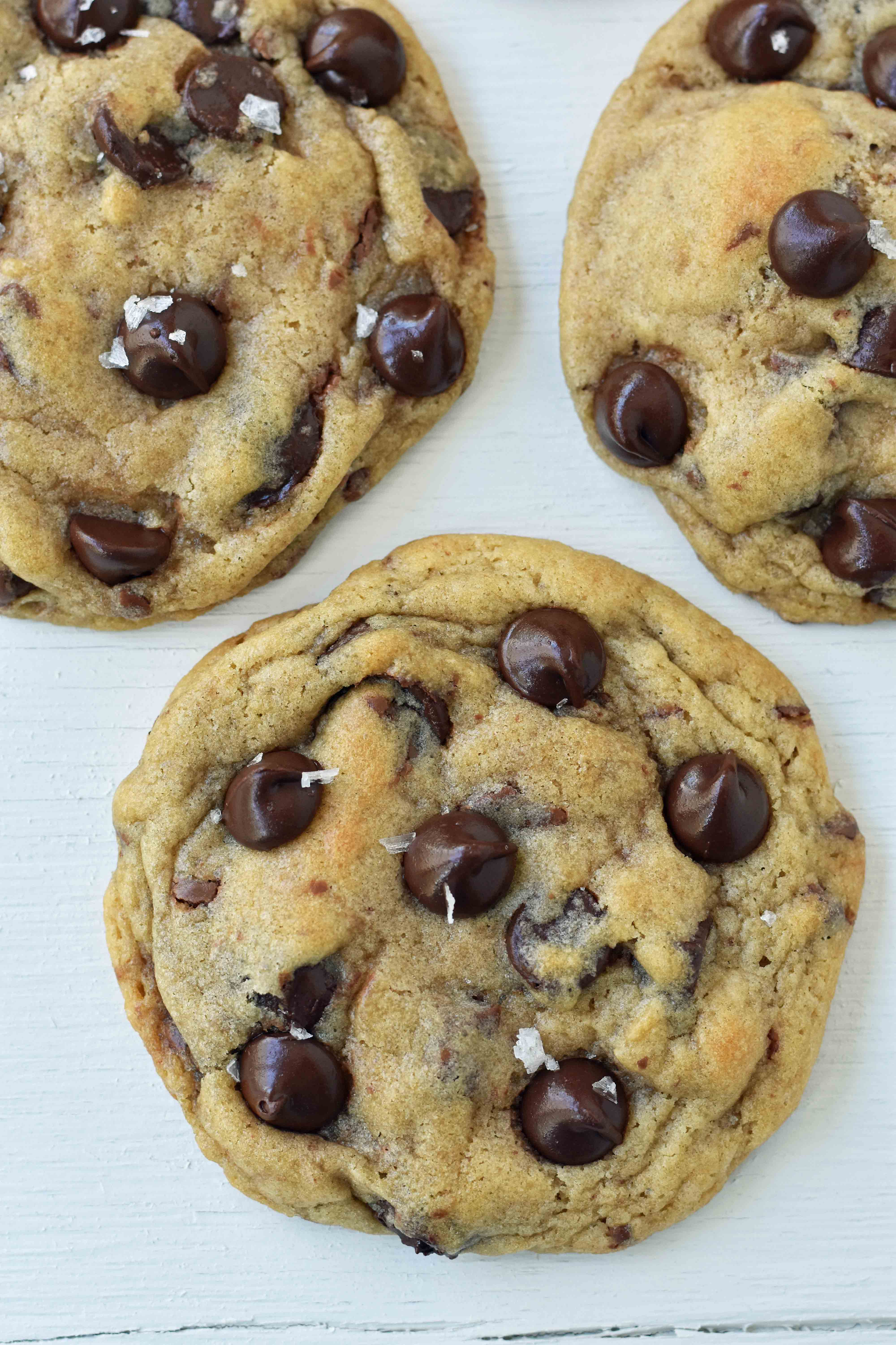 Charmina's Chocolate Chip Cookies are the classic chocolate chip cookie recipe with melted and softened butter and both semi-sweet and milk chocolate chips. www.modernhoney.com