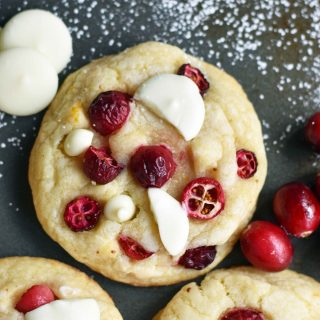 Cranberry Orange White Chocolate Cookies