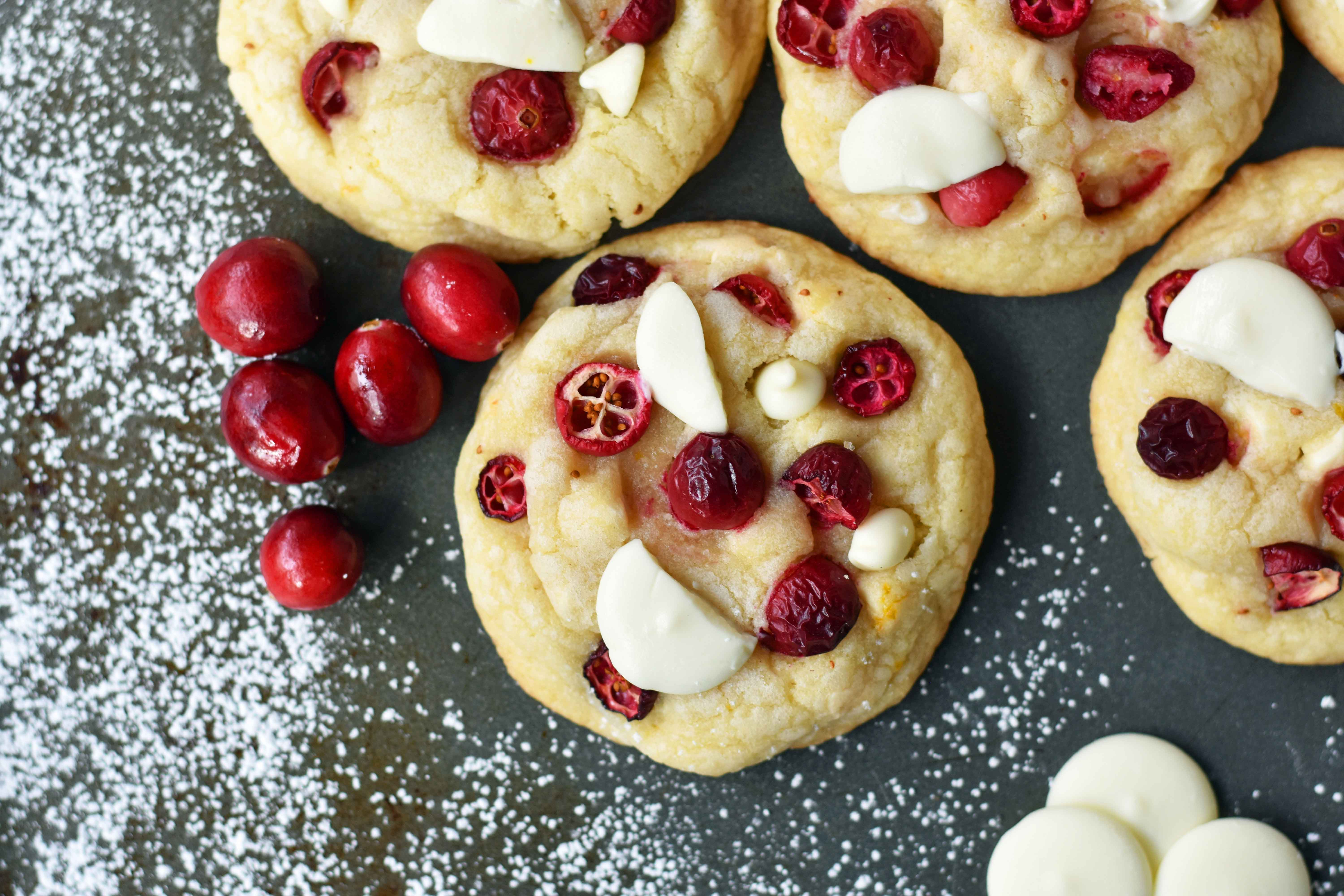 dried cranberry orange cookies