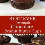 Homemade Chocolate Peanut Butter Cups. How to make copycat Reese's chocolate chip peanut butter cups and copycat Trader Joe's peanut butter cups. The best homemade chocolate peanut butter cups recipe. www.modernhoney.com