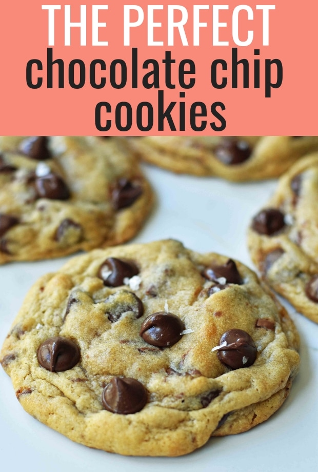 The PERFECT Chocolate Chip Cookies Recipe. How to make the perfect chocolate chip cookie. www.modernhoney.com #chocolatechipcookies #perfectchocolatechipcookies #cookie #cookies #chocolatechip