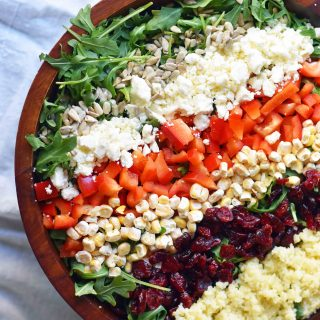 Chopped Salad with Creamy Basil Dressing