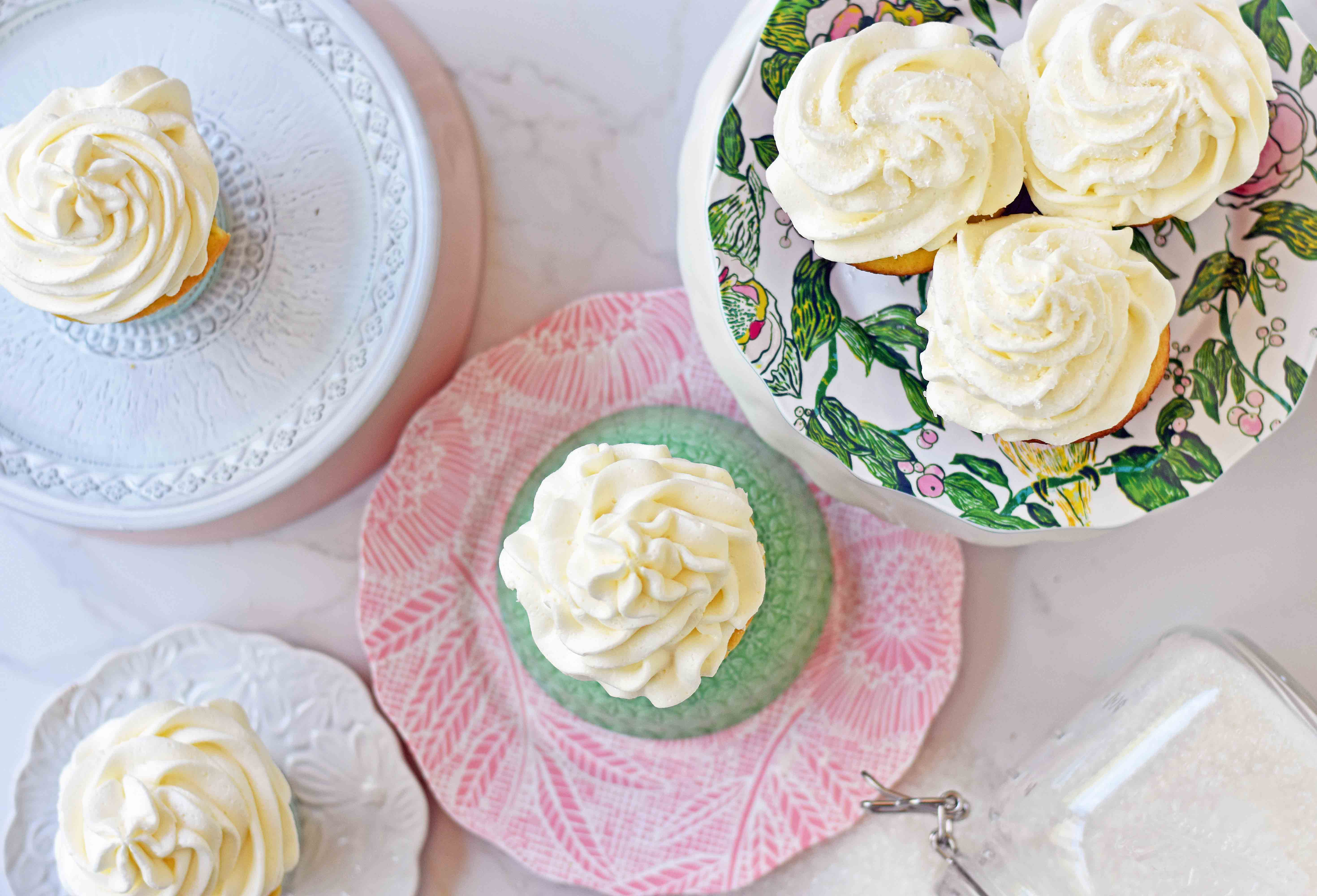 Best Vanilla Cupcakes Recipe. How to make soft and moist vanilla cupcakes. Homemade Vanilla Cupcakes with Vanilla Buttercream Frosting. www.modernhoney.com