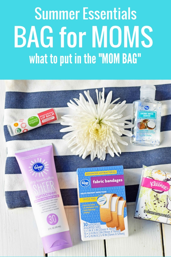 Summer Essentials Survival Kit for Moms. First Aid Kit for Moms. How to be prepared for anything as a Mom. What to put in your Mom Bag. Mom Bag Essentials. www.modernhoney.com #kroger #mombag #firstaidkit