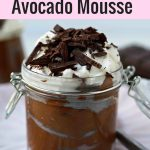Dark Chocolate Avocado Mousse is a silky smooth creamy, healthy dessert. A healthy chocolate mousse recipe. www.modernhoney.com #chocolatemousse #chocolateavocadomousse #chocolate #collagenmousse