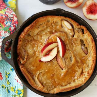 Brown Sugar Peach Dutch Baby