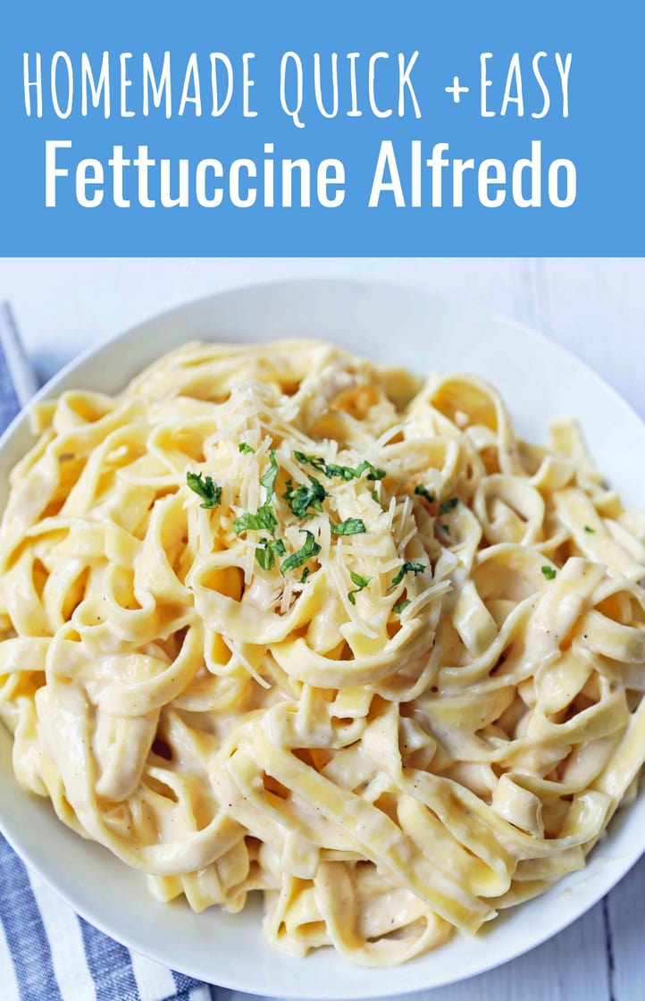 Fettuccine Alfredo Recipe. Homemade alfredo sauce made from scratch using heavy cream, butter, parmesan cheese, and a touch of garlic. The BEST Fettuccine Alfredo Recipe! www.modernhoney.com #fettccinealfredo #pasta
