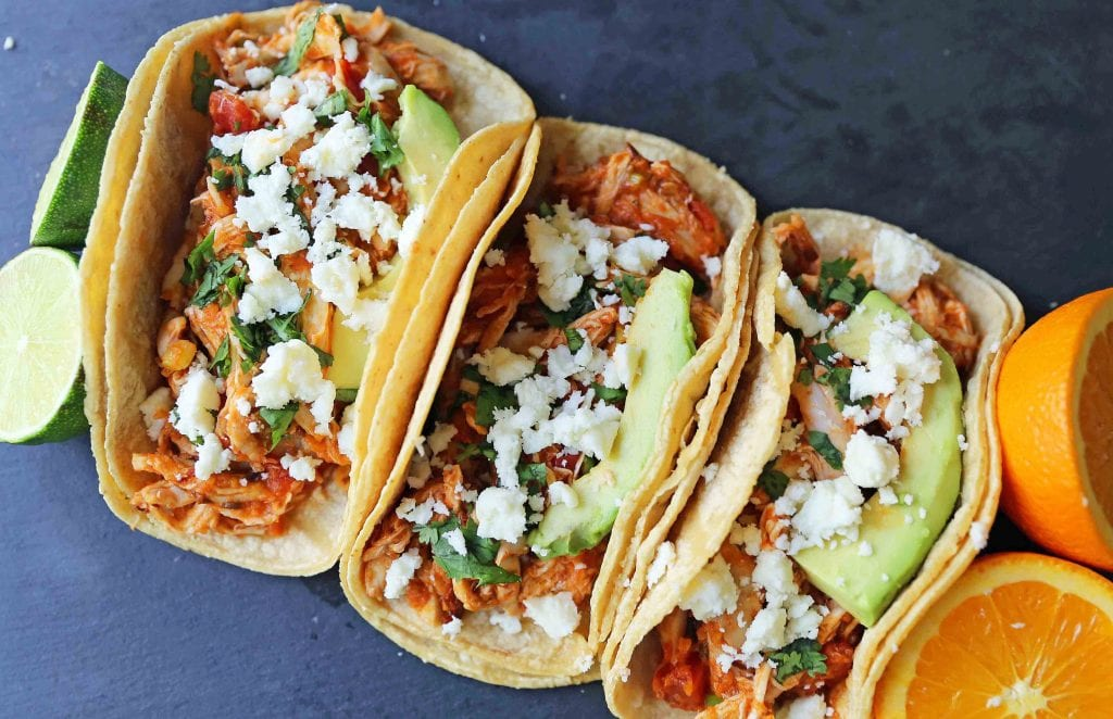 Chipotle Chicken Tinga Tacos – Modern Honey