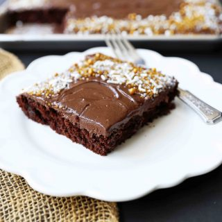 Chocolate Sheet Cake with Milk Chocolate Frosting