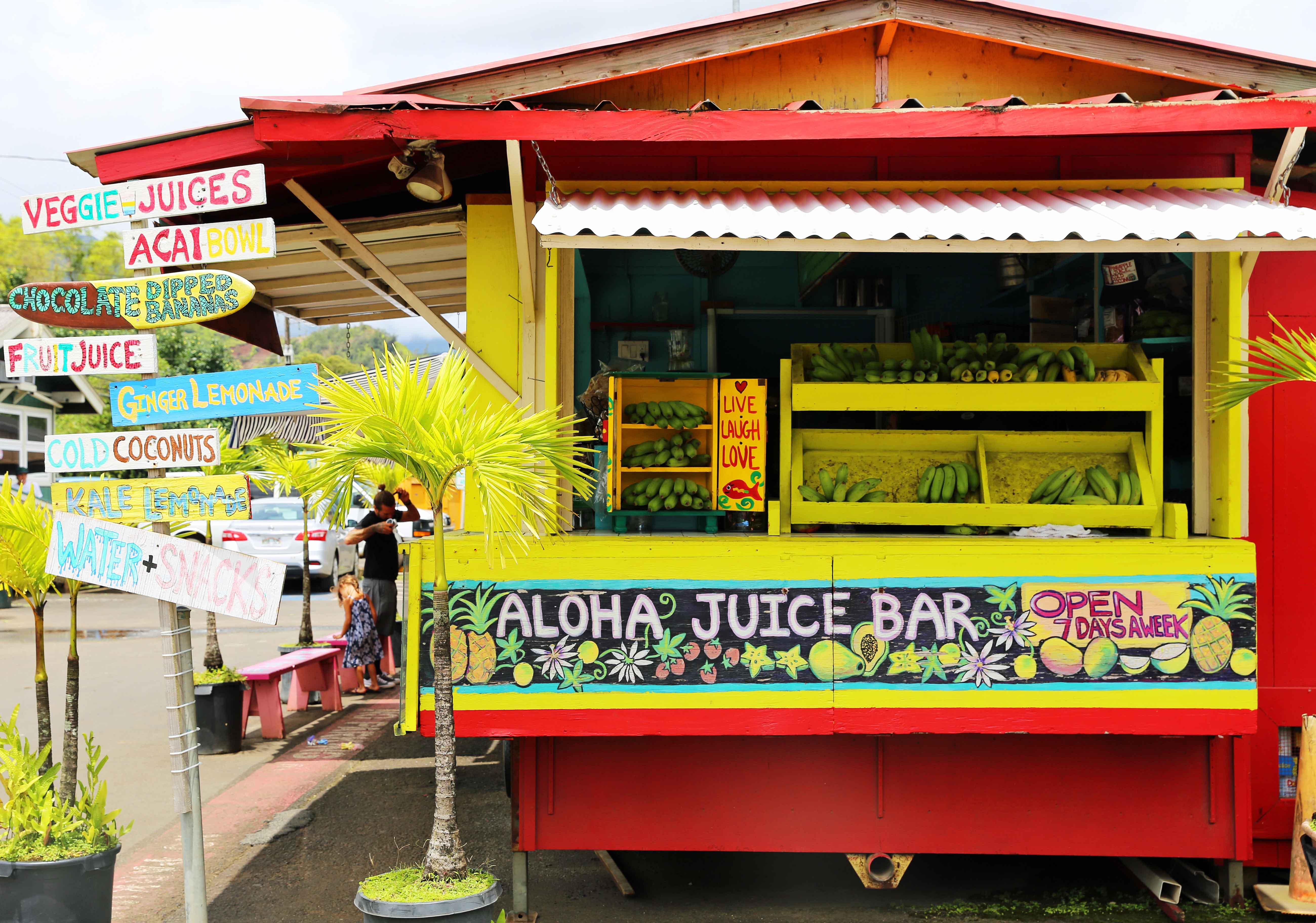 Aloha Juice Bar Hanalei Kauai Hawaii