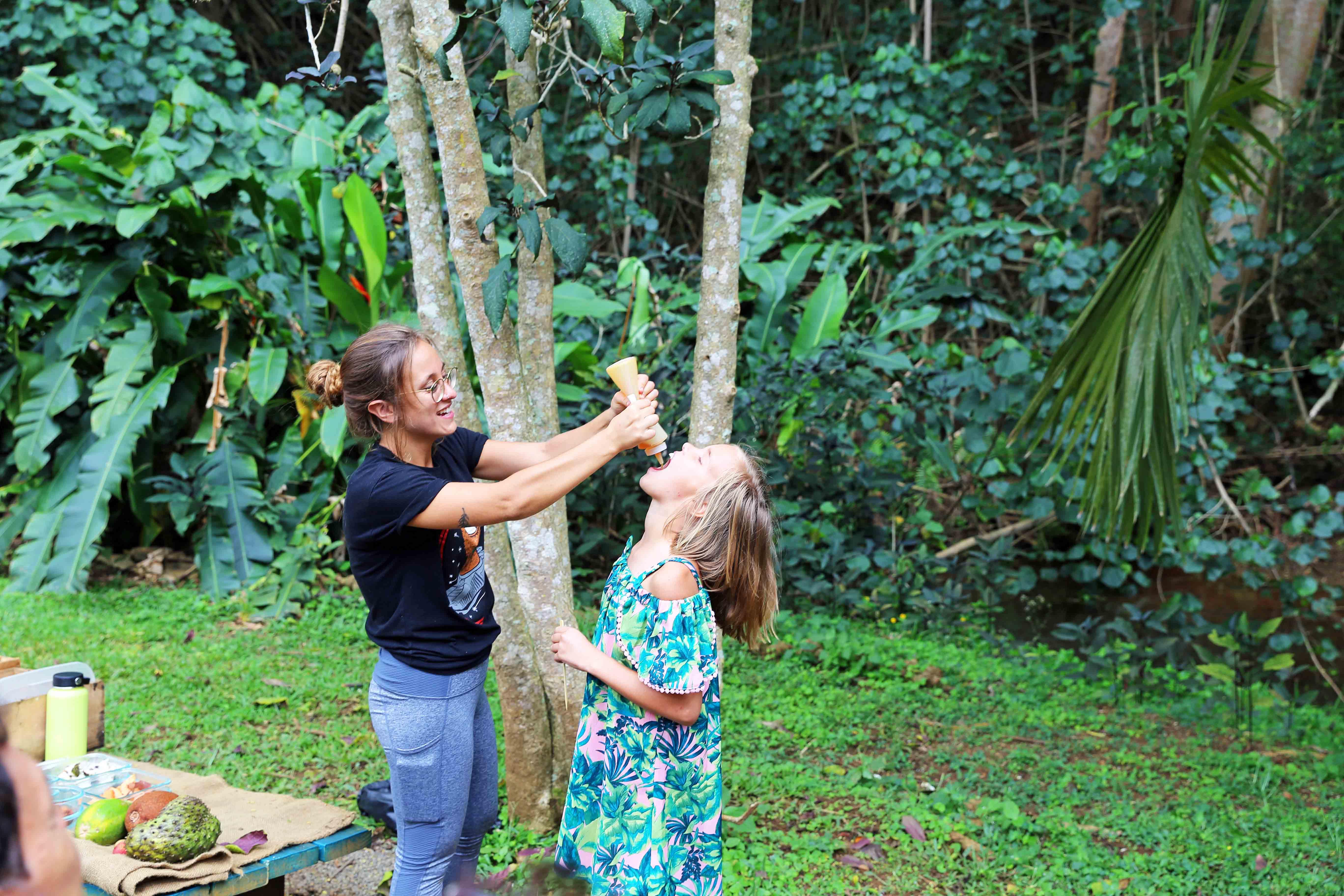 Honey Tasting at Lydgate Farms in Kauai Hawaii