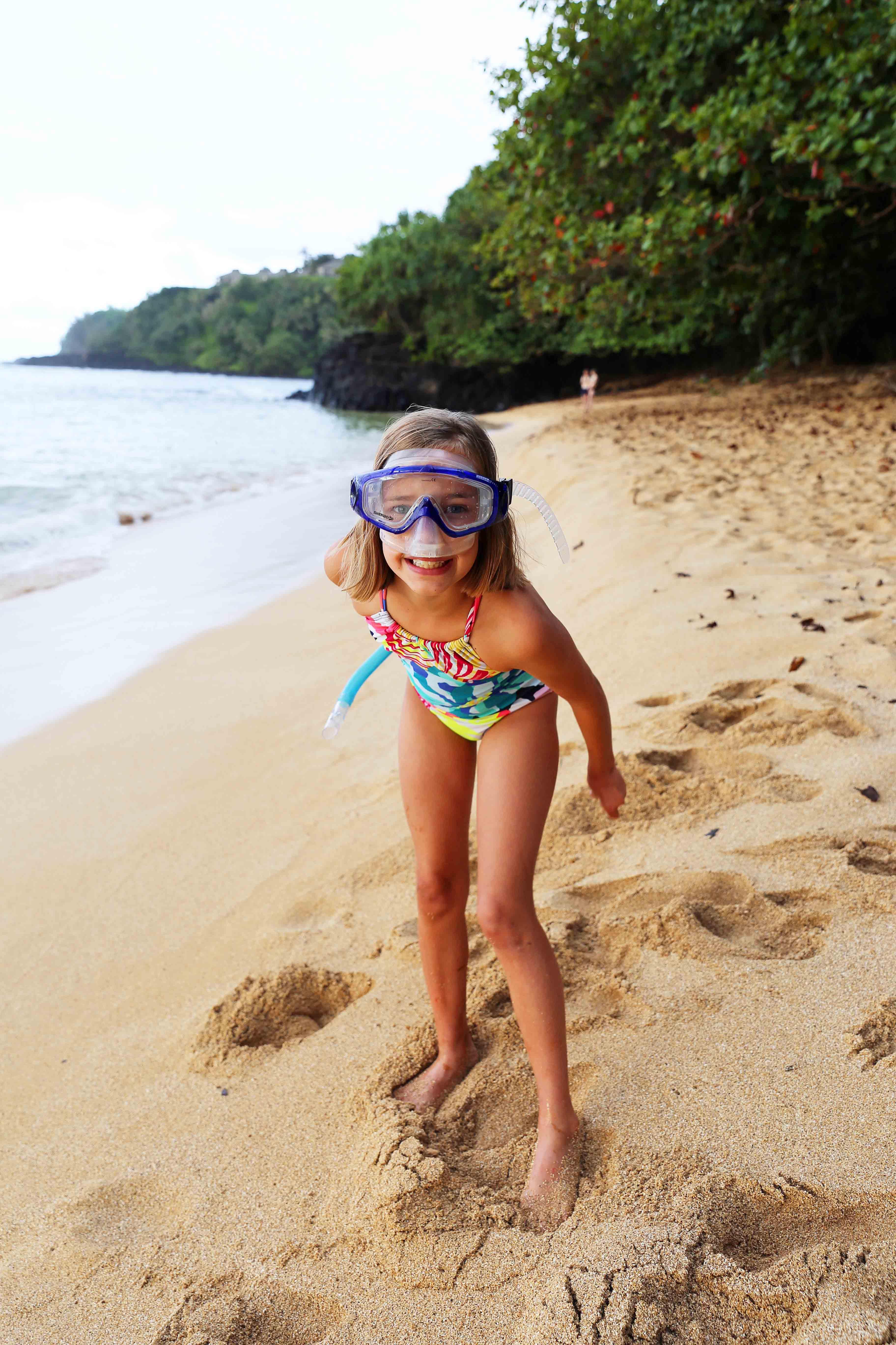 Kauai Hawaii Travel Guide. Snorkeling at Hideway Beach Kauai Hawaii