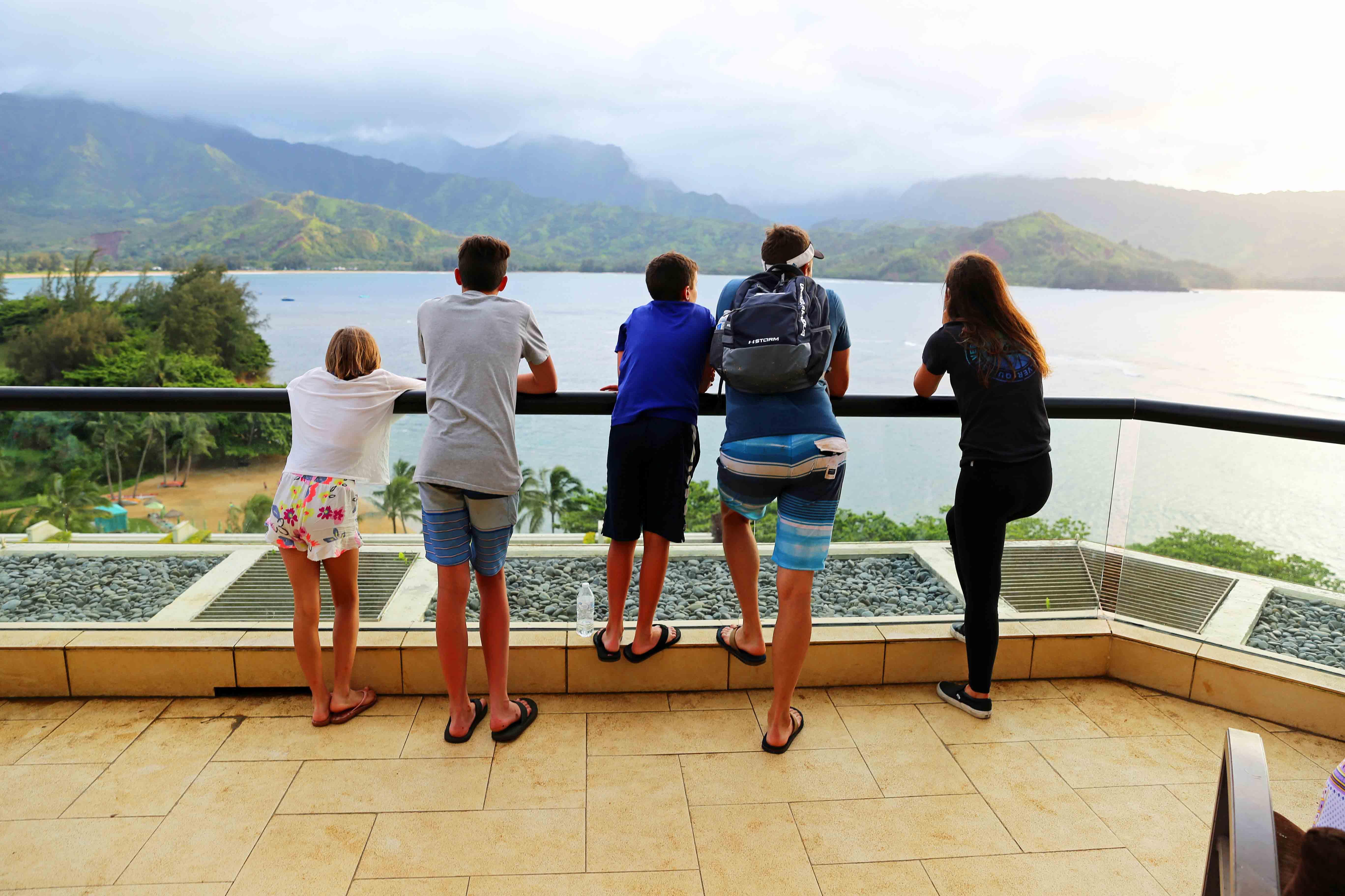 Kauai Hawaii Travel Guide. Sunset at the St. Regis Princeville Resort Kauai