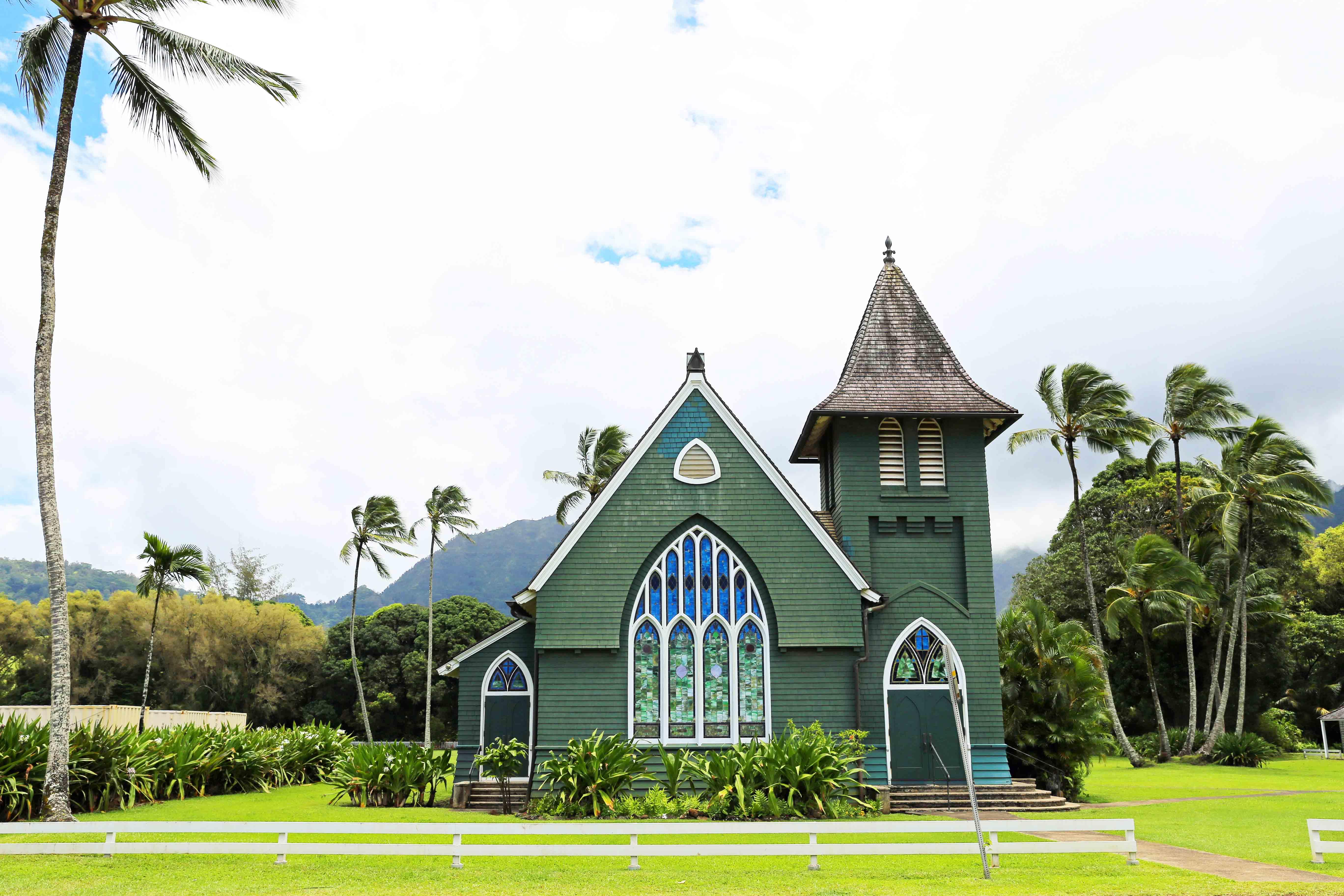 Kauai Hawaii Travel Guide. Waioli Huiia Church Hanalei Kauai Hawaii