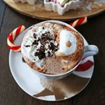 Homemade Hot Chocolate Recipe. How to make easy 5-ingredient gourmet hot chocolate. This Slow Cooker Hot Chocolate is perfect to serve at parties. A list of hot chocolate toppings ideas to make your very own Hot Chocolate Bar. www.modernhoney.com #hotchocolate #homemadehotchocolate #chocolate #hotchocolatebar #hotchocolatetoppings #christmas