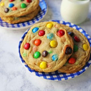 Soft M&M Cookies