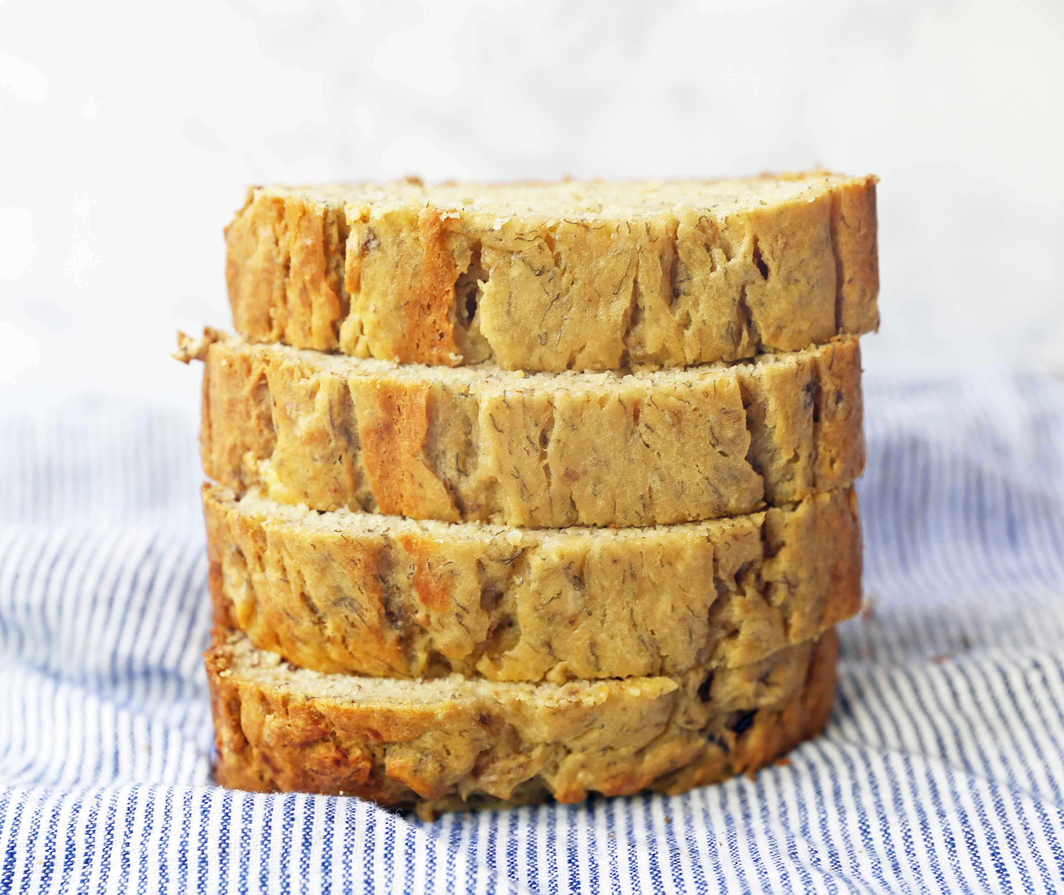 The BEST Banana Bread Recipe. How to make the perfect moist and flavorful banana bread recipe that is worthy of being slathered in butter. The best banana bread recipe! www.modernhoney.com #bananabread #quickbread #bananarecipes