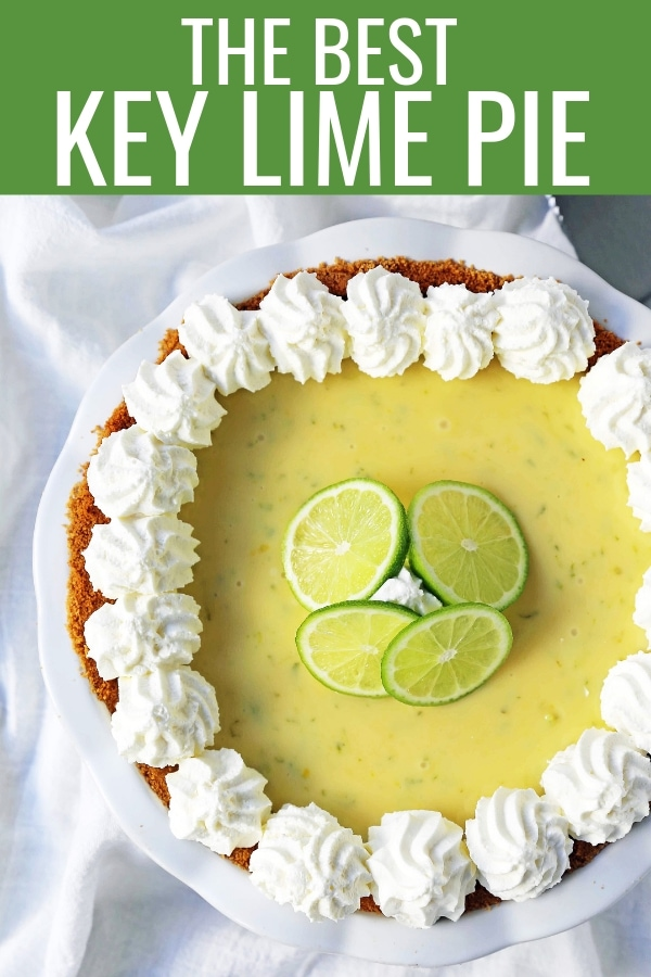 Key Lime Pie. The best creamy key lime pie in a buttery graham cracker crust with fresh sweetened whipped cream. www.modernhoney.com #keylimepie #limepie #pie #easterdesserts