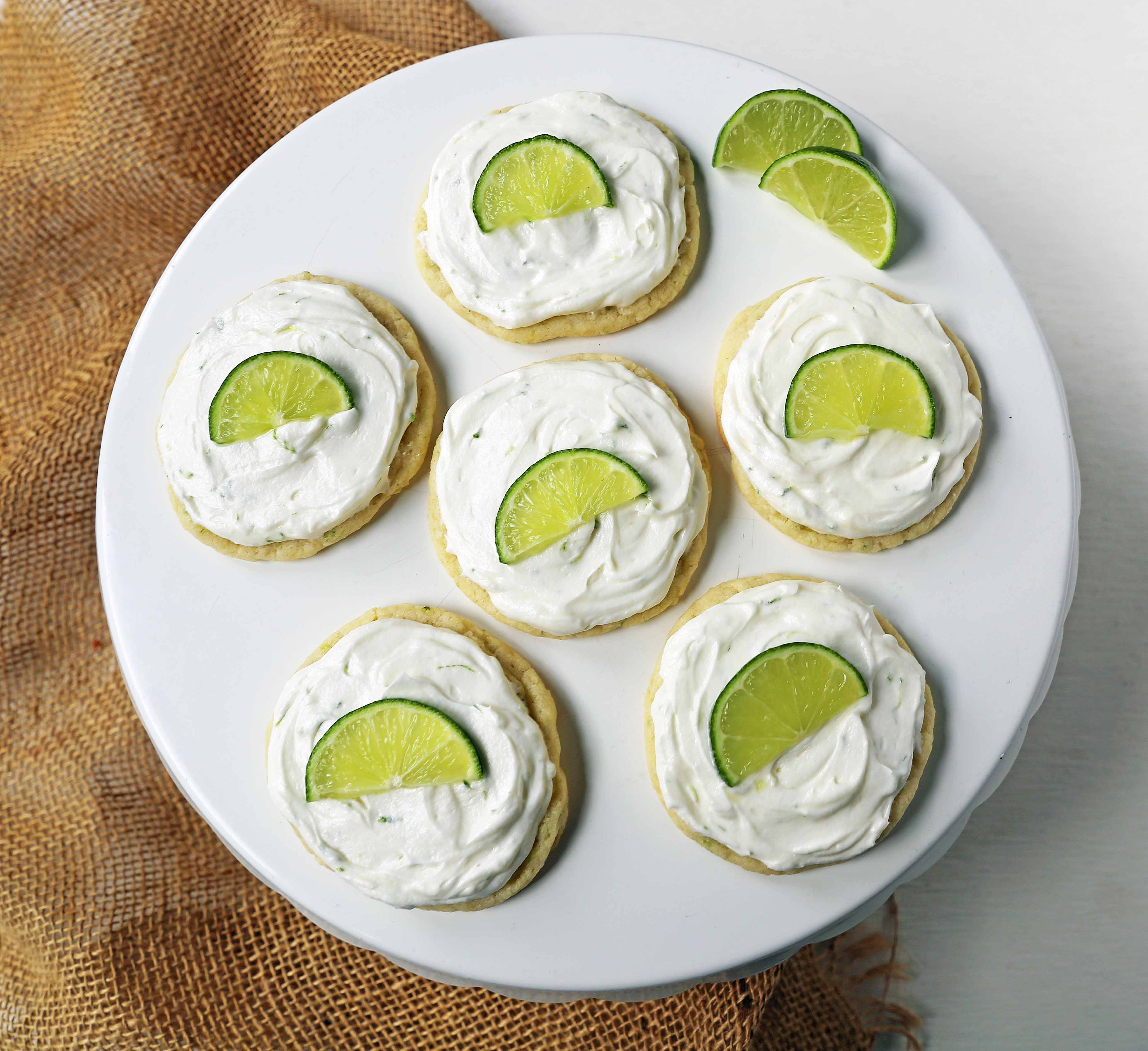 Key Lime Cookies with Coconut Lime Frosting. Chewy fresh coconut lime cookies with a creamy coconut lime frosting. The perfect tropical Caribbean cookie! www.modernhoney.com #keylimecookie #limecookie #coconutlimecookie