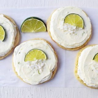 Key Lime Cookies with Coconut Lime Frosting