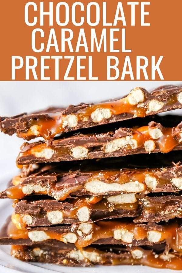 Chocolate Caramel Pretzel Bark. An easy homemade chocolate candy treat made with homemade salted caramel, salty pretzels, and creamy milk and semi-sweet chocolate. The perfect salty sweet combination! www.modernhoney.com #chocolatebark #pretzelbark #chocolatepretzelbark