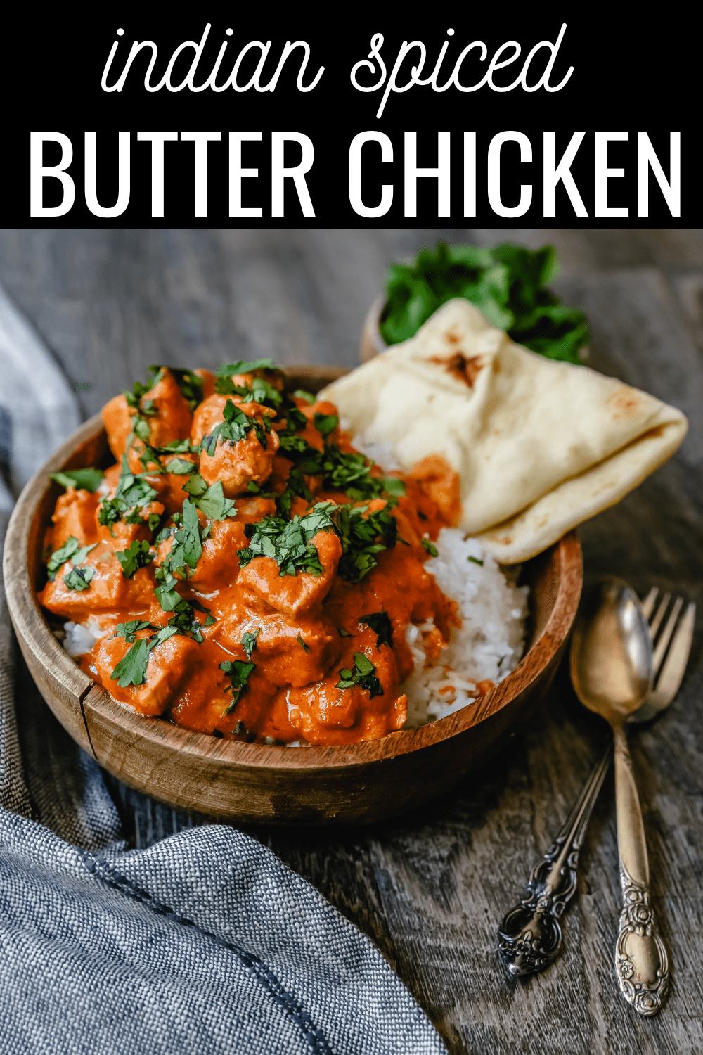 Indian Butter Chicken A popular Indian dish made with tender chicken simmered in a rich, Indian spiced tomato cream sauce. The Best Indian Butter Chicken Recipe! #indianfood #butterchicken