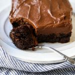 Chocolate Zucchini Cake Moist chocolate cake with grated zucchini with a rich chocolate buttercream frosting. You can't even taste the zucchini so this is definitely the best way to eat your vegetables! The Best Chocolate Zucchini Cake Recipe. www.modernhoney.com #zucchinicake #chocolatezucchinicake