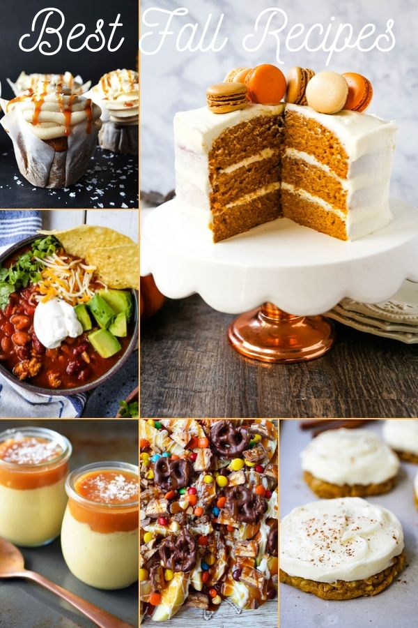 The Best Fall Recipes all in one place. Pumpkin recipes, Apple Recipes, Caramel Recipes, and Cozy Soup Recipes. All of your favorite Fall recipes! www.modernhoney.com #fall #fallrecipes #pumpkinrecipes #applerecipes