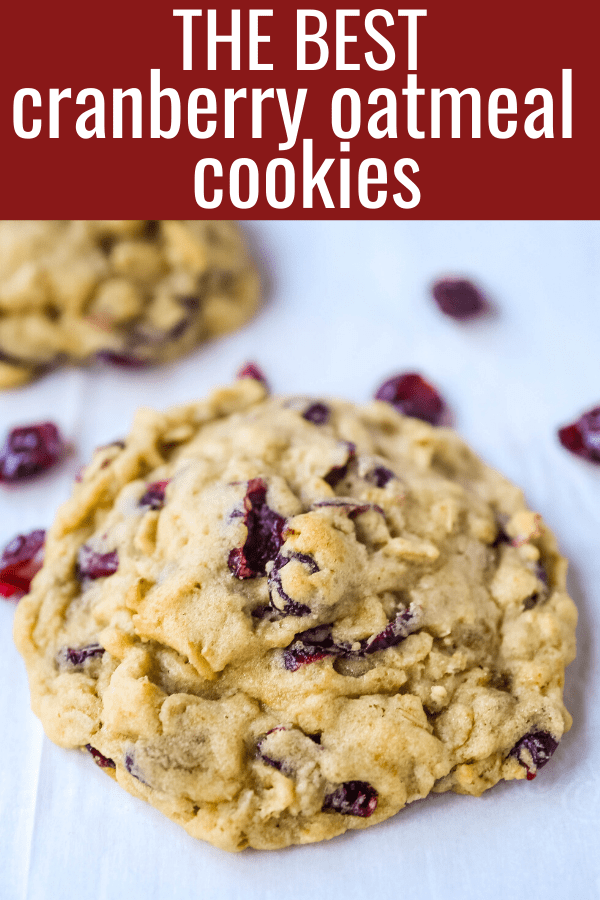 Cranberry Oatmeal Cookies Soft chewy brown sugar oatmeal cookies with sweetened dried cranberries. A chewy and hearty oatmeal cookie that everyone will love! www.modernhoney.com #oatmealcookie #oatmealcookies #cranberryoatmeal #cookie #cookies