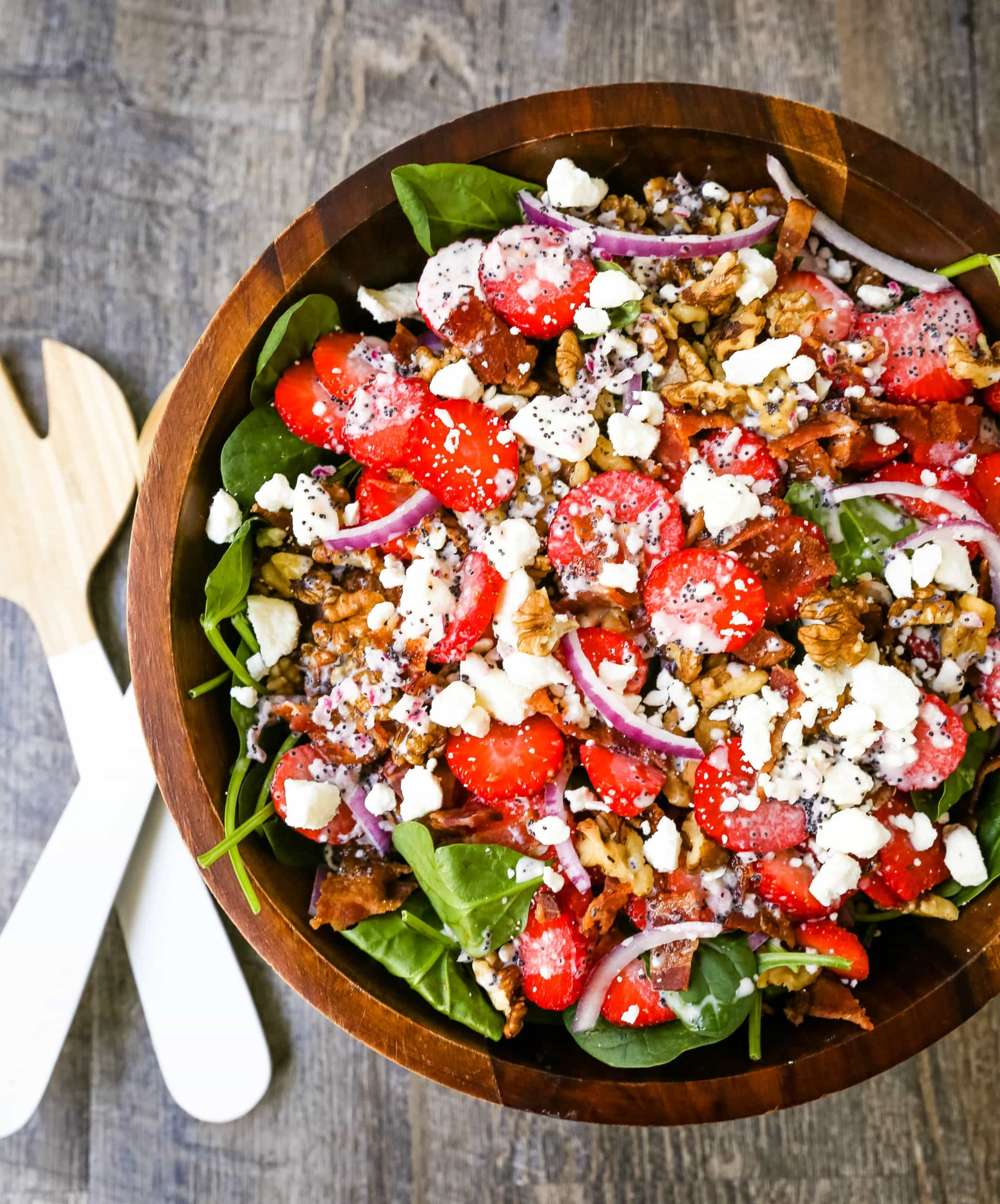Strawberry Spinach Salad with Poppyseed