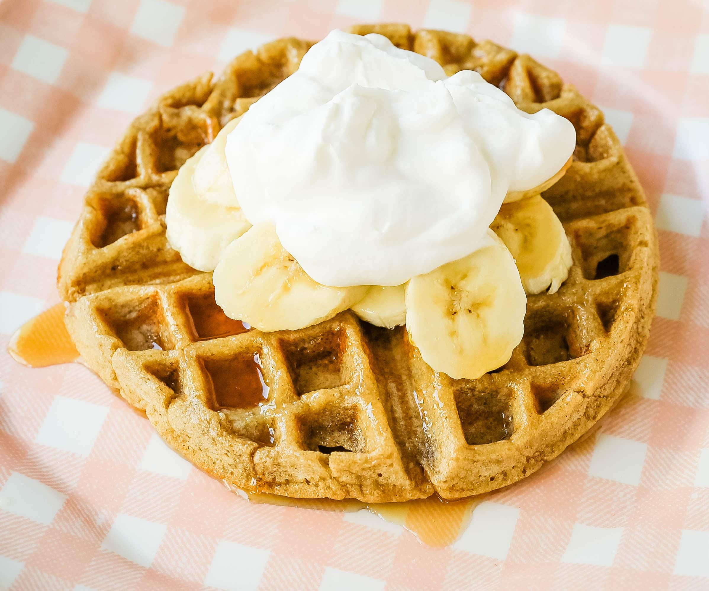 Healthy Gluten-Free Banana Oat Waffles Gluten-Free, Dairy-Free, and Refined-Sugar Free Waffles and you won't even miss it! These waffles give you the energy you need to start your day! #glutenfree #dairyfree #waffles #healthy #breakfast